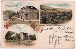SAINT AMARIN-GRUSS-LITHO A 3 VUES - Saint Amarin