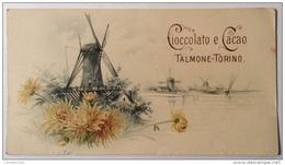 CIOCCOLATO E CACAO TALAMONE TORINO CM.14X7,5 - Advertising