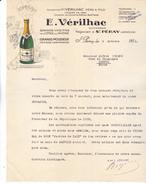 09 Saint Péray. E Vérilhac,grands Mousseux, Lettre Illustrée De 1936, Tb état. - 1900 – 1949
