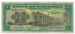 Guatemala 1 Qz. 1972 F/VF. - Guatemala