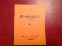 Collège Saint Joseph Avignon Rue Des Lices Règlement Calendrier 59-60  43 Pages - Calendriers