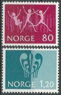 NORWEGEN 1972 Mi-Nr. 645/46 ** MNH - Norwegen