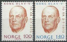 NORWEGEN 1973 Mi-Nr. 664/65 ** MNH - Norwegen