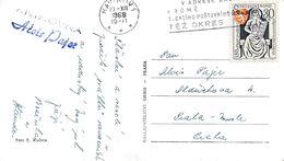 M0524 - Czechoslovakia (1968) Havirov 1 (promotion Machine Postmark); Postcard: Christmas; Tariff: 30h - Tschechoslowakei/CSSR