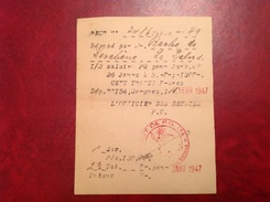 Dépôt Prisonnier De Guerre 154 Sorgues WWII - Gebührenstempel, Impoststempel