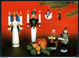 A7036 - Glückwunschkarte - Weihnachten - Engel Angel - Erzgebirgische Volkskunst - Adam TOP - Noël