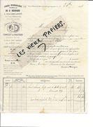 10 - Aube - VILLE-SOUS-FERTE - Facture CONVERT & MAUGRAS - Chaux Hydraulique Naturelle - 1868 - REF 80A - France