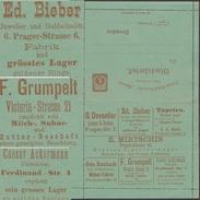 Allemagne 1887. Poste Privée Hansa De Dresden. Lampes, Bronze, Bijoux, Bagues En Or, Cigares, Lait, Beurre, Horloger - Vaches