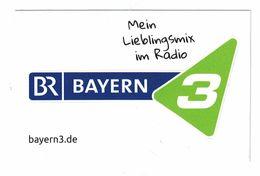 AUTOCOLLANT BR BAYERN 3 MEIN LIEBLINGSMIX IM RADIO BAYERN3.DE / MUNCHEN - Autocollants
