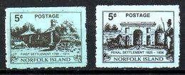 NORFOLK. N°656-7 De 1998. Bâtiments Historiques. - Isola Norfolk