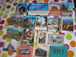 Lot De 22 Carnets Souvenir Modernes Et Semi-modernes De France Et étranger - Cartes Postales