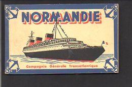 """Bateau / Carnet De 12 Cartes Postales Du Paquebot """" Normandie """" De La Compagnie Générale Transatlantique - Paquebote"""