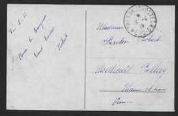 Cachet   TRESOR ET POSTES  * 520 - D *  Sur Carte De Zagreb 1919 - Marcophilie (Lettres)