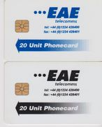 UK  EAE TELECOMMS WHITE BACKSIDE - Schede Telefoniche