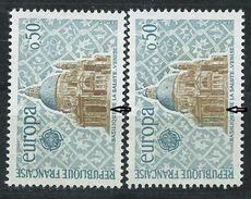 [17] Variété : N° 1676 Europa Ombres Détruites + Normal  ** - Varieties: 1970-79 Mint/hinged