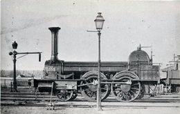 LOCOMOTIVE  N°353 PO  (ancien Retirage Photo Format Carte Ancienne,la Vie Du Rail) - Trains