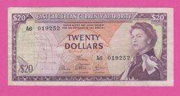 EAST  CARIBBEAN - 20 Dollars De 1965 - Pick 15e - VF - Caraïbes Orientales
