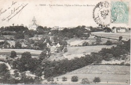 TROO Vue Du Coteau L'église Et L'abbaye Des Marchais - France