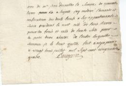 AIGUEPERSE 63  RECU DE JEAN DESNOTTES Le 23 Juillet 1754 Et Signe Du Notaire ROUGANE 125mmx 175 Mm N11 - France