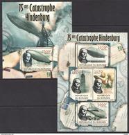G265 2012 BURUNDI TRANSPORTATION AVIATION CATASTROPHE HINDENBURG 1KB+1BL MNH - Zeppelins