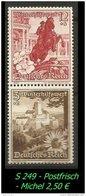 Deutsches Reich - Zusammendruck - Mi. Nr. S 249 - Postfrisch. - Zusammendrucke