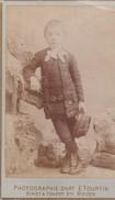 Photos Originales  Anciennes CDV   Photo Enfant Debout Charles Ledrien Photo Emile Tourtin  Rouen 1880 Ref 74 - Photos