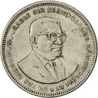 Mauritius, 1/2 Rupee, 1987, TTB, Nickel Plated Steel, KM:54 - Mauritius