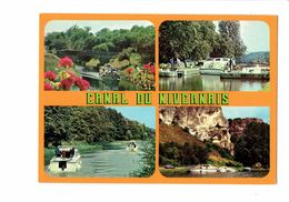 Cpm - 58 - Canal Du Nivernais - Multivues - Péniche Pénichette - 1963 - France