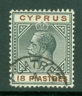 Cyprus: 1912/15   KGV   SG83   18pi      Used - Cyprus (...-1960)