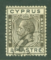 Cyprus: 1925   KGV   SG119   ¾pi      Used - Chipre (...-1960)