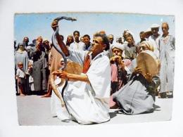 Post Card From Morocco Maroc Carte Postale Atm Machine Cancel 1973 Snake Charmer Cobra Musical Instruments - Maroc (1956-...)