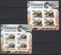 G277 !!! IMPERFORATE 2011 BURUNDI FAUNA ELEPHANT  !!! 2 KB MNH - Elephants