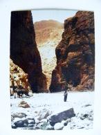 Post Card From Morocco Maroc Carte Postale 1986 Mountains Rocks Tinghir Gorge Todra - Marokko (1956-...)