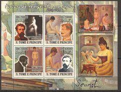 F571 2008 S.TOME E PRINCIPE ART SEURAT 1 KB MNH - Art
