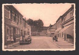 Lommel - Kerkstraat - Uitgave Huis Jansen-Vreys In 't Bazarken - Geanimeerd - Oldtimer - Café - Kruidenier - Lommel