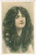 Postkaart Portret Meisje, Portait Girl By F  Toussaint (pk41221) - Illustrateurs & Photographes