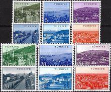 1958 - TOWNS - Complete Set Of 12 Stamps - Michel Nr. 1593-1604 - Ungebraucht