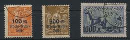 Deutsches Reich 258-260 Rhein Ruhrhilfe Gestempelt Kat.-Wert 150,00 - Deutschland