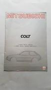 Mitsubishi Colt 1980 Depliant Brochure Originale Auto - Genuine Car Brochure - Automobili