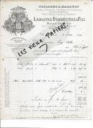 59 - Nord - LILLE - Facture LEMAITRE-DEMEESTERE - Tissage - 1896 - REF 80C - France