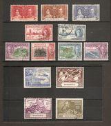 DOMINICA 1937 - 1951 COMMEMORATIVE SETS INCLUDING 1949 UPU SET - ALL FINE USED Cat £10.70 - Dominica (...-1978)