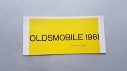 Oldsmobile 1961 Catalogo Epoca Depliant Brochure Originale Auto - Genuine Car Brochure - Automobili