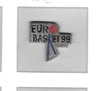 Pin's  Sport  Basket - Ball  EURO  BASKAT  99  France - Basketball