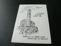 RAPALLO TORRE CIVICA ERETTA NEL XV° SECOLO MOSTRA DI AEROFILATELIA AL CASTELLO MEDIOEVALE 1974 - Manifestazioni
