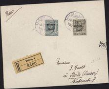 Triest Recommandé Venetie Julienne 1919 Pour Suisse Vignette Autrichienne L Italie YT Venetie J 21 Et 26 - 1900-44 Victor Emmanuel III