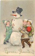 Themes Div -ref V136- Illustrateurs - Illustrateur Enfants - Le Bonhomme De Neige - Snowman  - - Illustrators & Photographers
