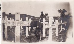 Photo 1919 LE HAVRE - Jour De Décoration Au Cimetière Militaire Américain, Soldats (A184, Ww1, Wk 1) - Le Havre