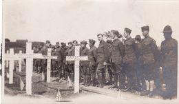 Photo 1919 LE HAVRE - Jour De Décoration Au Cimetière Militaire Américain, Soldats (A184, Ww1, Wk 1) - Guerre 1914-18