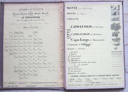 MAPPA GRAN CARTA DEGLI STATI SARDI IN TERRAFERMA CESANNE PIEMONTE CLAVIERES CESANA TORINESE ANNO 1852 - Carte Stradali