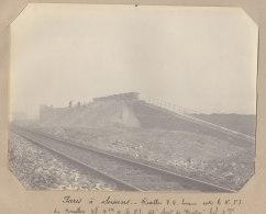 SAINT DENIS : Chemin Du Cornillon, Saut De Mouton Du Landy . Quadruplement Des Voies La Plaine Hirson. Photo Originale - Trains